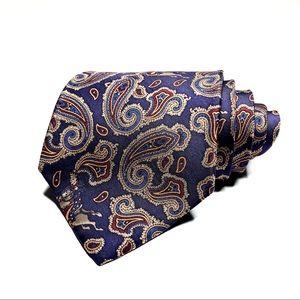 Salvatore Ferragamo Purple Paisley and Horse Tie